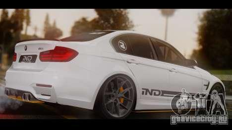 BMW M3 F30 IND EDITION для GTA San Andreas вид слева
