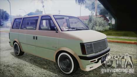 GTA 5 Declasse Moonbeam Custom IVF для GTA San Andreas вид сзади слева