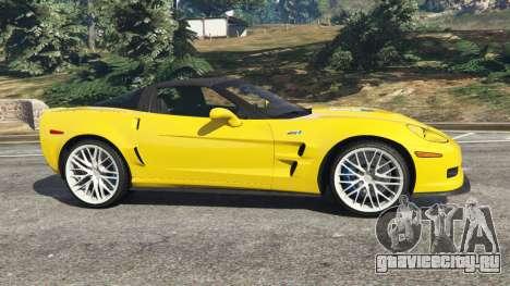 Chevrolet Corvette ZR1 для GTA 5 вид слева
