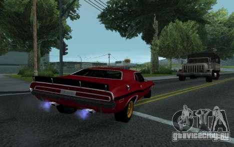 Dodge Challenger Tunable для GTA San Andreas вид изнутри