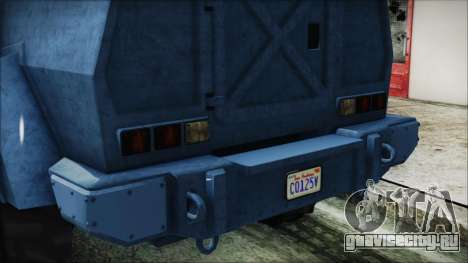 GTA 5 HVY Insurgent Van IVF для GTA San Andreas вид изнутри