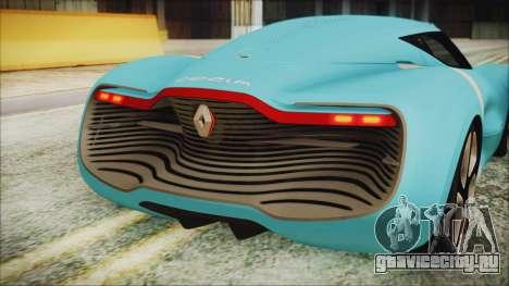 Renault Dezir Concept 2010 v1.0 для GTA San Andreas вид сзади