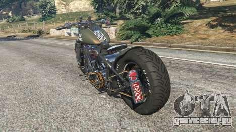 Harley-Davidson Knucklehead Bobber для GTA 5 вид сзади слева
