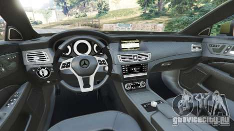 Mercedes-Benz CLS 63 AMG 2015 для GTA 5 вид сзади справа