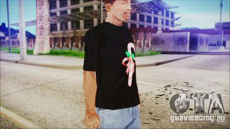 T-Shirt Cane Christmas для GTA San Andreas второй скриншот