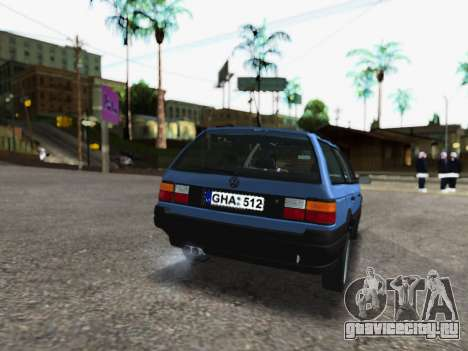 Volkswagen Passat B3 Variant для GTA San Andreas вид сзади слева