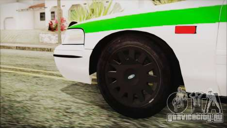 Ford Crown Victoria Miami Dade для GTA San Andreas вид сзади слева