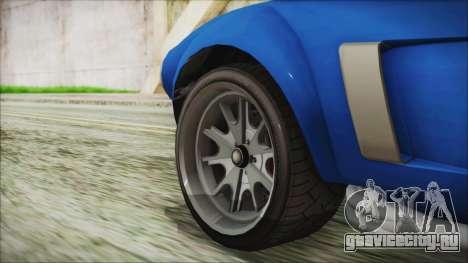 GTA 5 Declasse Mamba для GTA San Andreas вид сзади слева
