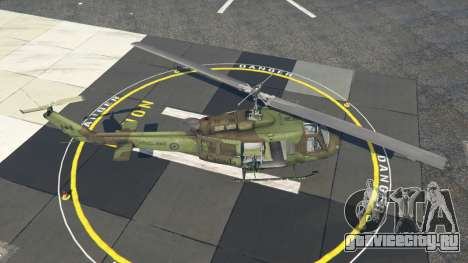 Bell UH-1D Huey Royal Canadian Air Force для GTA 5 четвертый скриншот
