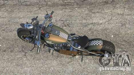 Harley-Davidson Knucklehead Bobber для GTA 5 вид сзади