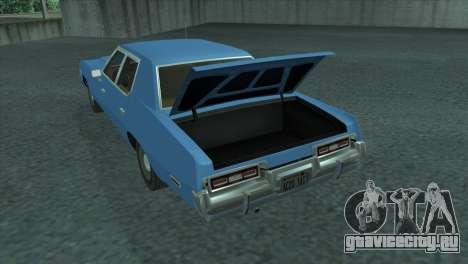 Dodge Monaco V8 7.2L 1974 для GTA San Andreas вид сзади
