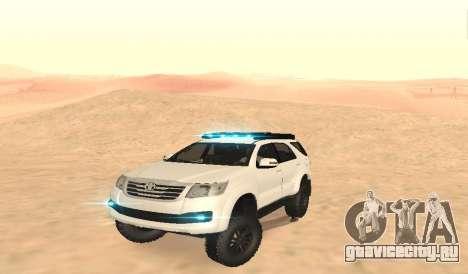 Toyota Fortuner 4WD 2015 Rustica для GTA San Andreas