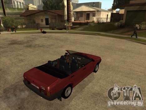 ВАЗ 21099 Кабриолет для GTA San Andreas вид справа