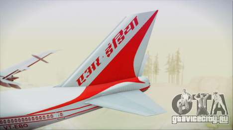 Boeing 747-237Bs Air India Vikramaditya для GTA San Andreas вид сзади слева