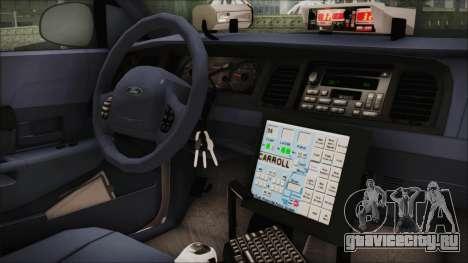 Ford Crown Victoria Miami Dade для GTA San Andreas вид справа