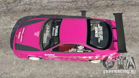 Honda Integra DC2 для GTA 5 вид сзади