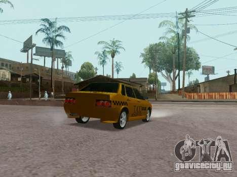 VAZ 21099 Tuning Russian Taxi для GTA San Andreas вид сзади слева
