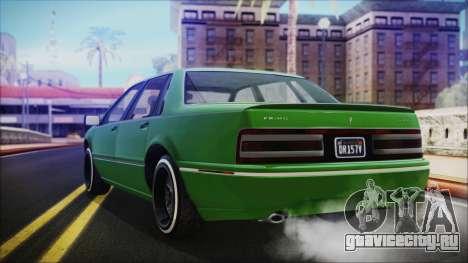 GTA 5 Albany Primo Custom No Interior IVF для GTA San Andreas вид слева