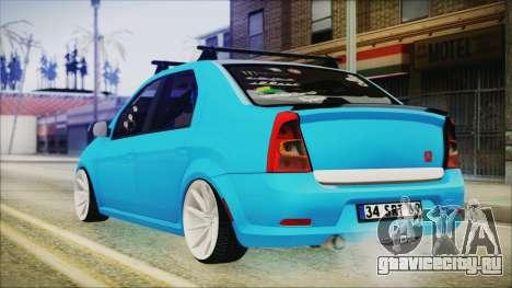 Dacia Logan Cadde Style для GTA San Andreas вид слева