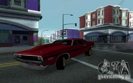 Dodge Challenger Tunable для GTA San Andreas вид сзади
