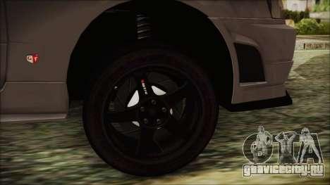 Nissan Skyline Nismo Body Kit для GTA San Andreas вид сзади слева