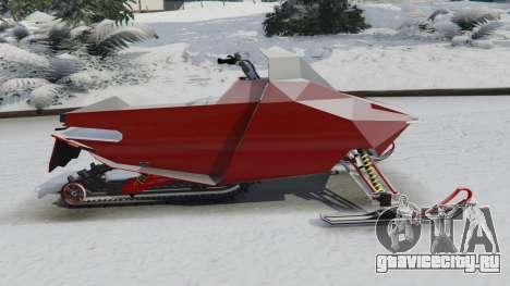 Снегоход для GTA 5 вид слева