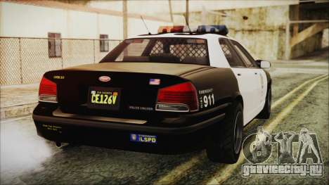 GTA 5 Vapid Stranier II Police Cruiser для GTA San Andreas вид слева