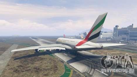 Airbus A380-800 для GTA 5 третий скриншот
