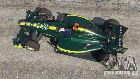 Lotus T127 для GTA 5 вид сзади