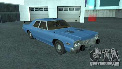 Dodge Monaco V8 7.2L 1974 для GTA San Andreas вид изнутри