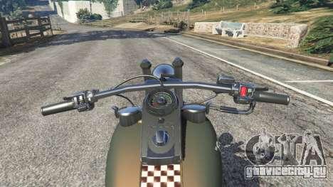 Harley-Davidson Knucklehead Bobber для GTA 5 вид сзади справа