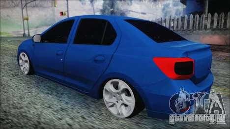 Dacia Logan 2015 для GTA San Andreas вид сзади слева