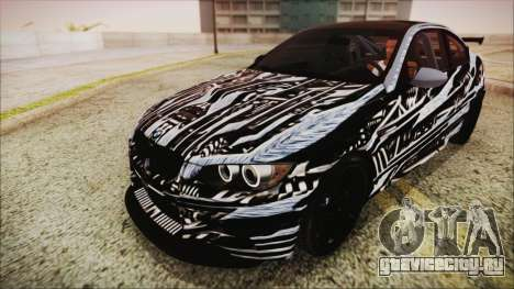 BMW M3 GTS 2011 HQLM для GTA San Andreas вид сверху