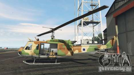 Bell UH-1D Israeli Air Force для GTA 5 второй скриншот