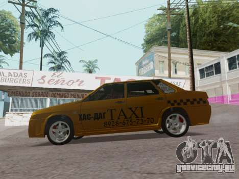 VAZ 21099 Tuning Russian Taxi для GTA San Andreas вид слева