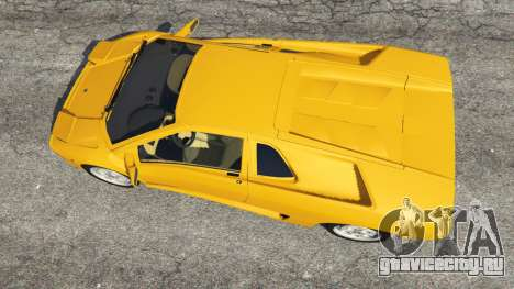 Lamborghini Diablo Viscous Traction 1994 для GTA 5 вид сзади