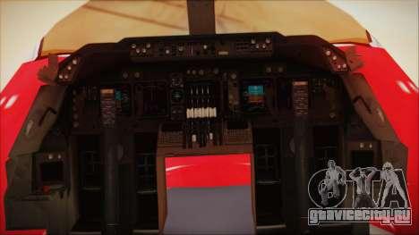 Boeing 747-100 Merry Christmas для GTA San Andreas вид сзади