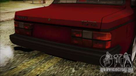 Volvo Turbo 242 Evolution Turbo 1983 для GTA San Andreas вид сзади