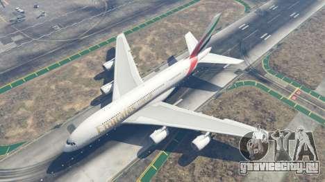 Airbus A380-800 для GTA 5 четвертый скриншот