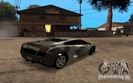 Lamborghini Gallardo Tunable v2 для GTA San Andreas вид изнутри