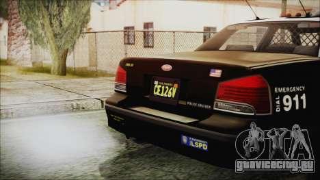 GTA 5 Vapid Stranier II Police Cruiser для GTA San Andreas вид справа
