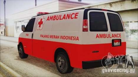 Indonesian PMI Ambulance для GTA San Andreas вид слева