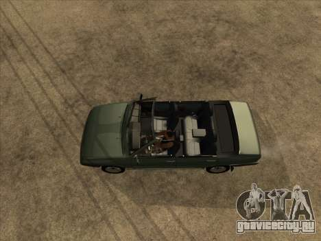 ВАЗ 21099 Кабриолет для GTA San Andreas вид сзади