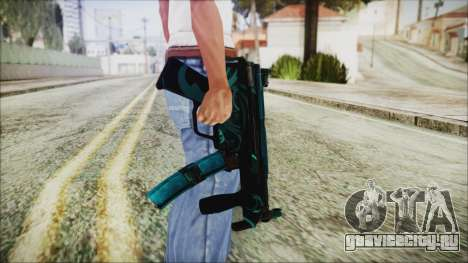 MP5K Black Blue Abstract для GTA San Andreas третий скриншот