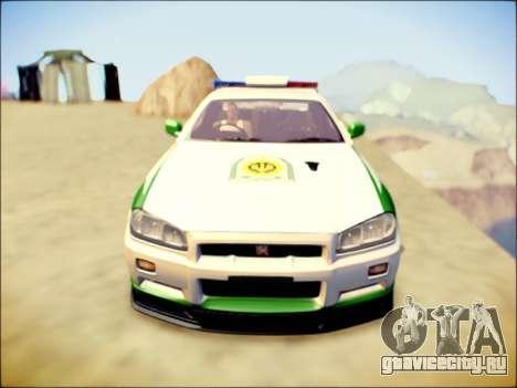 Nissan Skyline Iranian Police для GTA San Andreas вид слева