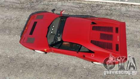 Ferrari 288 GTO 1984 для GTA 5 вид сзади