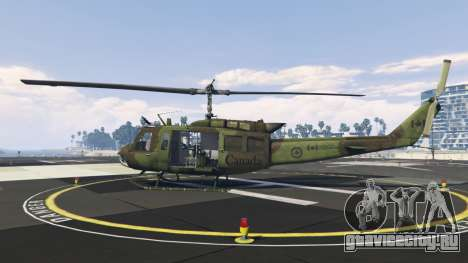 Bell UH-1D Huey Royal Canadian Air Force для GTA 5 второй скриншот