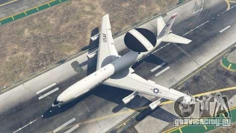 Boeing E-3 Sentry для GTA 5 четвертый скриншот