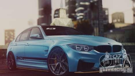 BMW M3 F30 IND EDITION для GTA San Andreas вид сзади слева