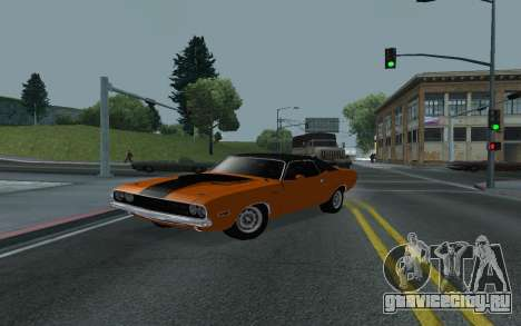 Dodge Challenger Tunable для GTA San Andreas вид сбоку